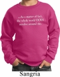 World Revolves Around Me Kids Sweatshirt