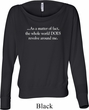 World Revolves Around Me Ladies Off Shoulder Shirt