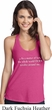 World Revolves Around Me Ladies T-Back Tank Top