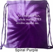 World Revolves Around Me Tie Dye Bag