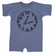 Worth The Wait Funny Funny Baby Romper Blue Infant Babies Creeper