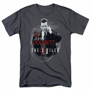 X-Files Shirt Doggett Adult Charcoal Tee T-Shirt