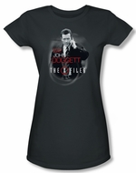 X-Files Shirt Juniors Doggett Charcoal Tee T-Shirt