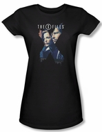 X-Files Shirt Juniors X Agents Black Tee T-Shirt
