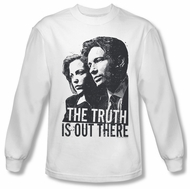 X-Files Shirt Truth Long Sleeve White Tee T-Shirt