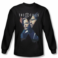 X-Files Shirt X Agents Long Sleeve Black Tee T-Shirt