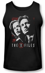 X-Files Tank Top Mulder & Scully Black Tanktop