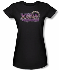 Xena: Warrior Princess Junior Shirt Logo Black Tee T-Shirt