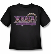 Xena: Warrior Princess Kids Shirt Logo Black Youth Tee T-Shirt