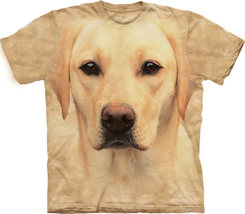 yellow lab shirt tie dye dog portrait t shirt adult tee