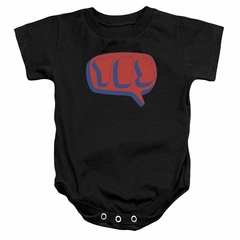 Yes Baby Romper Word Bubble Black Infant Babies Creeper