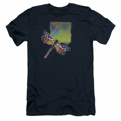 Yes Shirt Slim Fit Dragonfly Navy T-Shirt