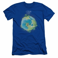 Yes Shirt Slim Fit Fragile Cover Royal T-Shirt