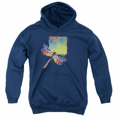 Yes Youth Hoodie Dragonfly Navy Kids Hoody