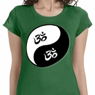 Yin Yang AUM Ladies Yoga Shirts