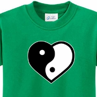 Yin Yang Heart Kids Yoga Shirts
