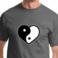 Yin Yang Heart Mens Yoga Shirts