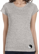 Yin Yang Patch Bottom Print Ladies Yoga Shirts