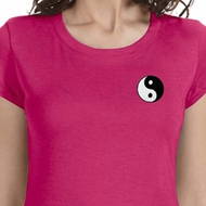 Yin Yang Patch Pocket Print Ladies Yoga Shirts