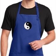 Yin Yang Patch Small Print Mens Yoga Shirts