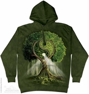 Ying Yang Tree Hoodie Tie Dye Adult Hooded Sweat Shirt Hoody