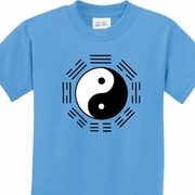 Ying Yang Trigrams Kids Yoga Shirts
