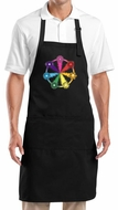 Yoga Apron 7 Chakra Circle Full Length Apron with Pockets
