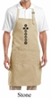 Yoga Apron 7 Chakras Black Print Full Length Apron with Pockets