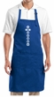 Yoga Apron 7 Chakras White Print Full Length Apron with Pockets