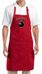 Apron Grab This Kettle Bell Full Length Apron with Pockets