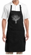 Yoga Apron Grey Tree of Life Full Length Apron with Pockets