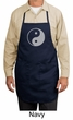 Yoga Apron Yin Yang Big Print Full Length Apron with Pockets
