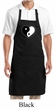 Yoga Apron Yin Yang Heart Full Length Apron with Pockets