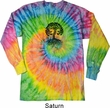 Yoga Black Celtic Tree Long Sleeve Tie Dye Shirt