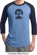 Yoga Black Celtic Tree Mens Raglan Shirt