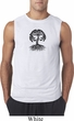 Yoga Black Celtic Tree Mens Sleeveless Shirt