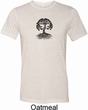 Yoga Black Celtic Tree Mens Tri Blend Crewneck Shirt
