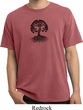 Yoga Black Celtic Tree Pigment Dyed Shirt