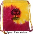 Yoga Black Celtic Tree Tie Dye Bag