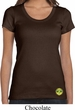 Yoga Buddha Eyes Patch Bottom Print Ladies Scoop Neck Shirt