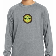 Yoga Buddha Eyes Patch Kids Dry Wicking Long Sleeve Shirt