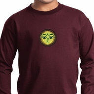 Yoga Buddha Eyes Patch Kids Long Sleeve Shirt