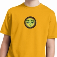 Yoga Buddha Eyes Patch Kids Moisture Wicking Shirt