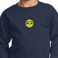 Yoga Buddha Eyes Patch Kids Sweatshirt