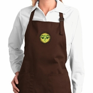 Yoga Buddha Eyes Patch Ladies Full Length Apron with Pockets