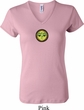 Yoga Buddha Eyes Patch Ladies V-neck Shirt