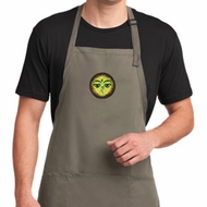 Yoga Buddha Eyes Patch Mens Full Length Apron with Pockets
