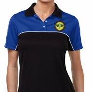 Yoga Buddha Eyes Patch Pocket Print Ladies Polo Shirt
