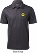 Yoga Buddha Eyes Patch Pocket Print Mens Textured Polo Shirt