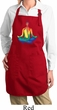 Yoga Chakra Lotus Pose Ladies Full Length Apron with Pockets